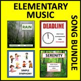 Elementary Music Bundle- Sheet Music, Choreography, and Accompaniment Links