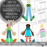 Elementary or Middle School Art Perspective Person Project