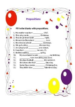 Elementary prepositions