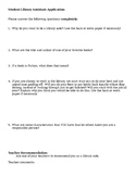 Elementary student library aide application