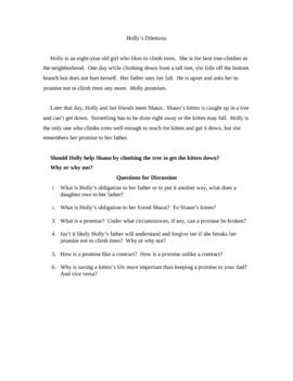 Elementary/Middle School Holly's Dilemma
