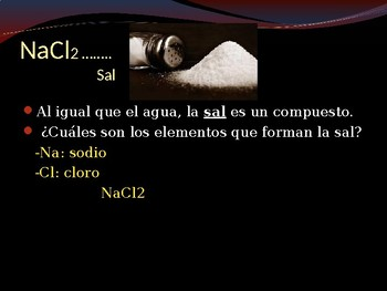 Elementos Compuestos y Sal (Elements, Compounds and Properties of Salt)