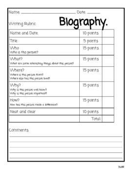 Elementos de la Biografía 3er Grado DL Program