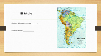 Elementos de los mapas/ Map Features in Spanish