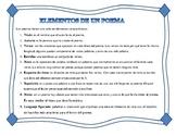 Elementos de un poema en español / Poems characteristics i