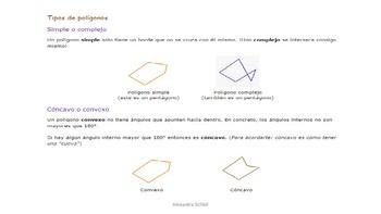 Elementos de un polígono y clasificación