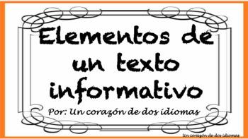Elementos de un texto informativo-Carteles