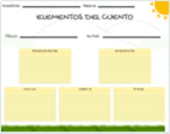Story Elements Spanish Dual Language Bilingual
