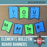 Elements A-Z Bulletin Board Banners