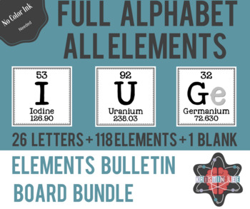 Elements A-Z Bulletin Board Bundle - Alphabet + Periodic Table