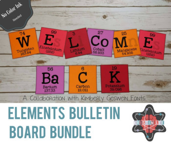 Elements A-Z Bulletin Board Bundle - Alphabet + Periodic Table