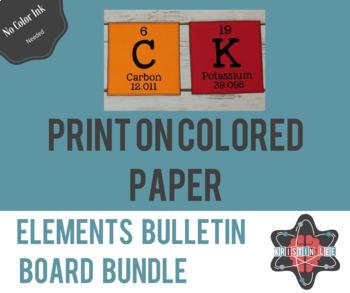 Elements Bulletin Board Letter Bundle - Alphabet + Periodic Table