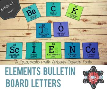 Elements A-Z Bulletin Board Letters - Alphabet