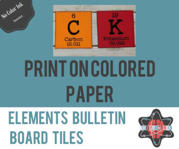 Elements A-Z Bulletin Board Tiles - Full Periodic Table