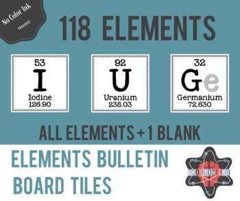 Elements Bulletin Board Tiles - Full Periodic Table