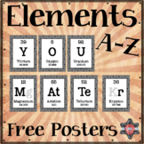 "Elements A-Z Poster Freebie - ""You Matter"""