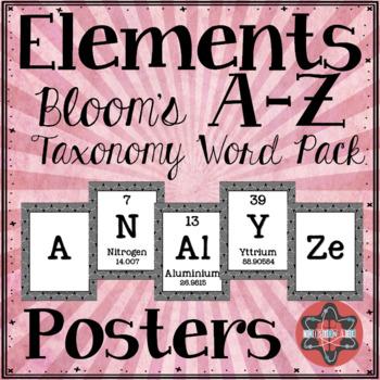 Elements A-Z Posters - Bloom's Taxonomy Bundle