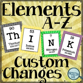 Elements A-Z Posters - Customization Request