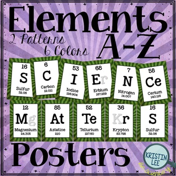 "Elements A-Z Posters - ""Science Matters"""