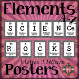 """Elements A-Z Posters - """"Science Rocks!"""""""