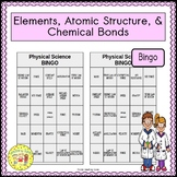 Elements, Atomic Structure, and Chemical Bonds BINGO
