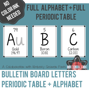 Elements A Z Bulletin Board Letters Version 2 By Kristin Lee Resources