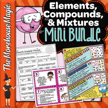 Elements, Compounds, & Mixtures Activity Bundle