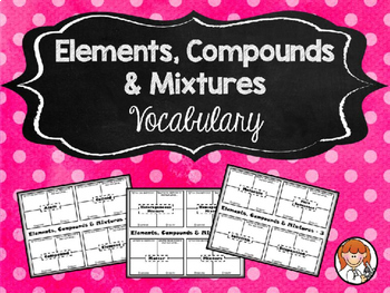 Elements, Compounds & Mixtures - Growing Bundle