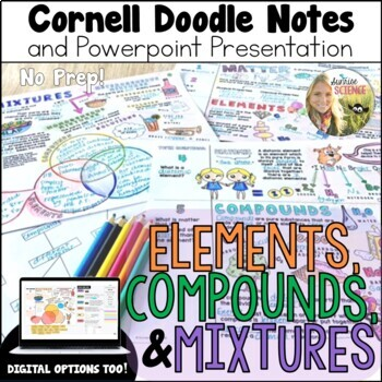 Elements Compounds Mixtures Classifying Matter Cornell Doodle Notes Powerpoint
