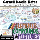 Elements Compounds Mixtures Cornell Doodle Notes Distance Learning