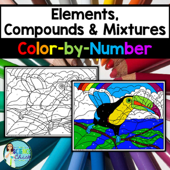 Elements, Compounds & Mixtures Color-by-Number - 2 Versions