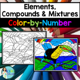 Elements, Compounds & Mixtures Color-by-Number