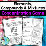 Elements, Compounds & Mixtures Concentration Game