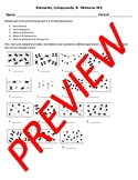 Elements, Compounds, & Mixtures Worksheet (for Physical Science)