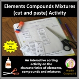 Elements, Compounds & Mixtures (cut & paste) Activity