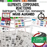 Elements, Compounds, Reactions Warm Ups & Bell Ringers, NGSS 6-8, Digital
