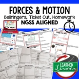 Forces and Motions Warm Ups & Bell Ringers, NGSS 6-8 Scien