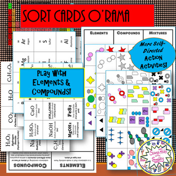 Elements & Compounds Vocab MatchUP CARDs with SORTs, GraphiQ MAP + more extras!