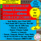 Elements & Compounds Vocabulary & Concept Sort O'Rama!