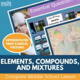 Elements Compounds and Mixtures Complete 5E Lesson Plan -