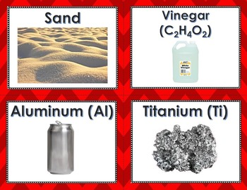 Elements, Compounds, and Mixtures Card Sort