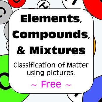 Elements Compounds and Mixtures Classification of Matter Free