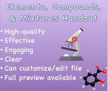 Elements, Compounds, and Mixtures Handout 1