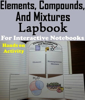 Elements Compounds and Mixtures Interactive Notebook Lapbo