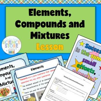 Elements, Compounds and Mixtures Lesson