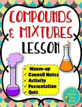 Elements, Compounds and Mixtures Lesson (PowerPoint, notes