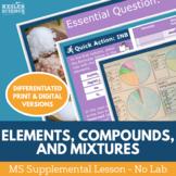 Elements Compounds and Mixtures - No Lab