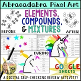 Elements Compounds and Mixtures Pixel Art Digital Review Distance Learning