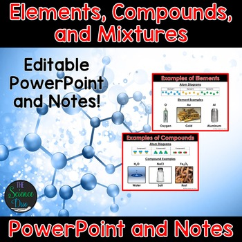 Elements, Compounds, and Mixtures - PowerPoint and Notes by The ...