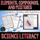 Elements, Compounds, and Mixtures - Science Literacy Article